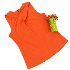 Soft Surroundings Orange Crossover Tank Womens L